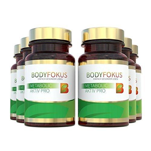 BodyFokus Metabolic Aktiv Pro (6 Dosen) - Natürliche Aktivierung des Stoffwechsels und Unterstützung der Gewichtsreduktion...