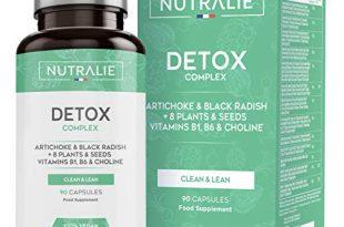 Detox Leistungsstark Leber | Plan zur veganen Entgiftung und Abnehmkur | Eliminiert Giftstoffe mit Artischocke, Schwarzem Rettich, Vitaminen und +8 Pflanzen und Samen | 90 Vegan-Kapseln Nutralie