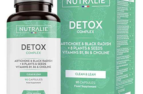 Detox Leistungsstark Leber   Plan zur veganen Entgiftung und Abnehmkur   Eliminiert Giftstoffe mit Artischocke, Schwarzem Rettich, Vitaminen und +8 Pflanzen und Samen   90 Vegan-Kapseln Nutralie